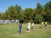 Archery range at YMCA Camp Duncan