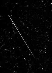 A meteor captured during the Perseid Meteor Shower